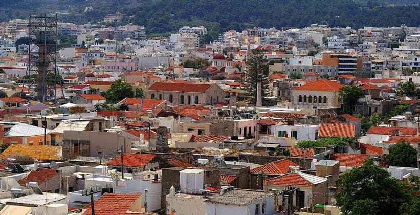 Город Ретимно в Греции