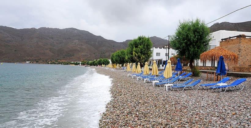 Городской пляж Ливадии (Греция)