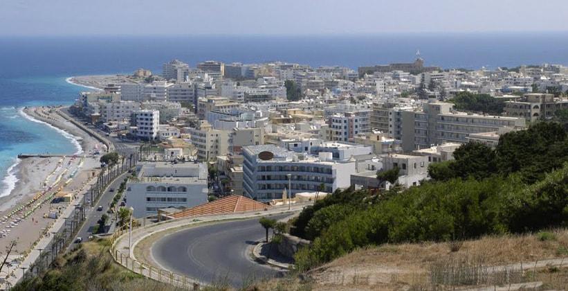 Город Родос в Греции