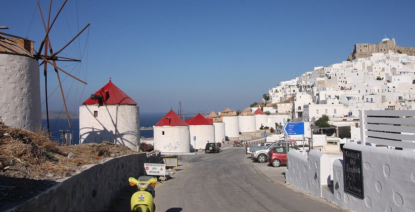 Ветряные мельницы на острове Астипалея (Греция)