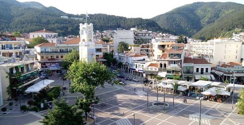 Центральная площадь города Ксанти в Греции