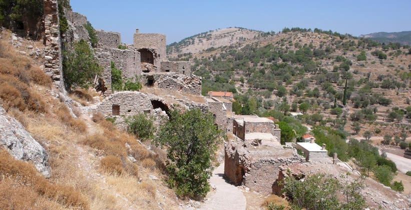 Деревня Анаватос на острове Хиос (Греция)
