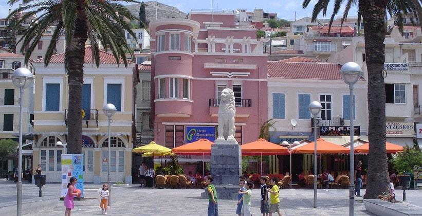 Центральная площадь города Самос