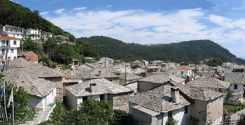 Деревня Панайия на острове Тасос (Греция)