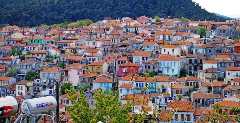 Деревня Айясос на острове Лесбос (Греция)