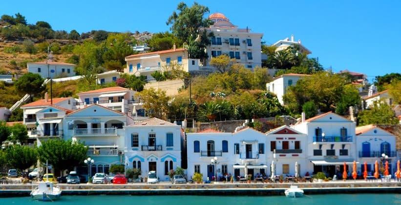 Город Эвдилос на острове Икария (Греция)