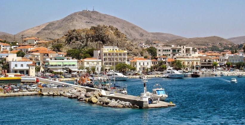 Город Мирина в Греции