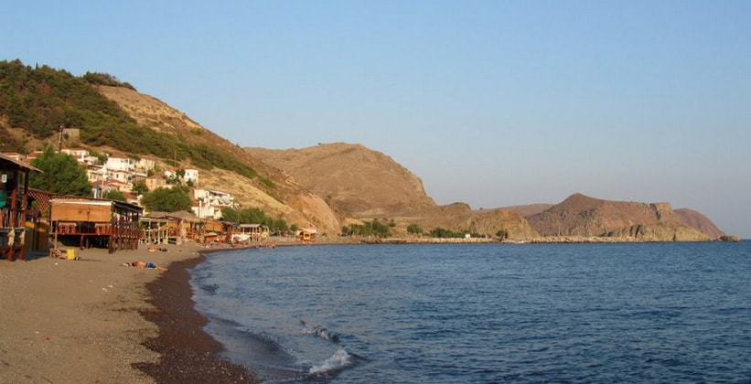 Курорт Скала-Эресу на острове Лесбос (Греция)