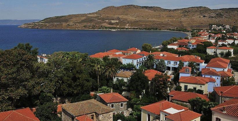 Курорт Петра на острове Лесбос (Греция)