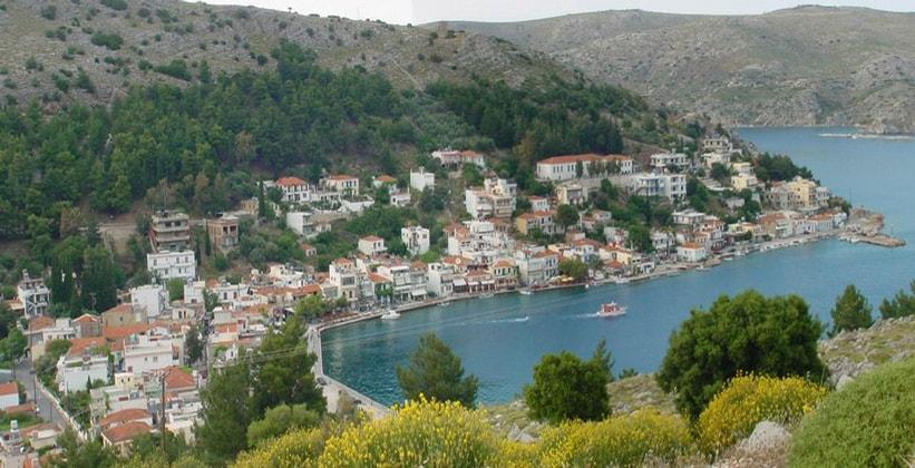 Курорт Лангада на острове Хиос (Греция)