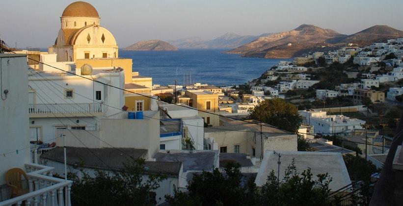 Город-порт Пандели на острове Лерос (Греция)