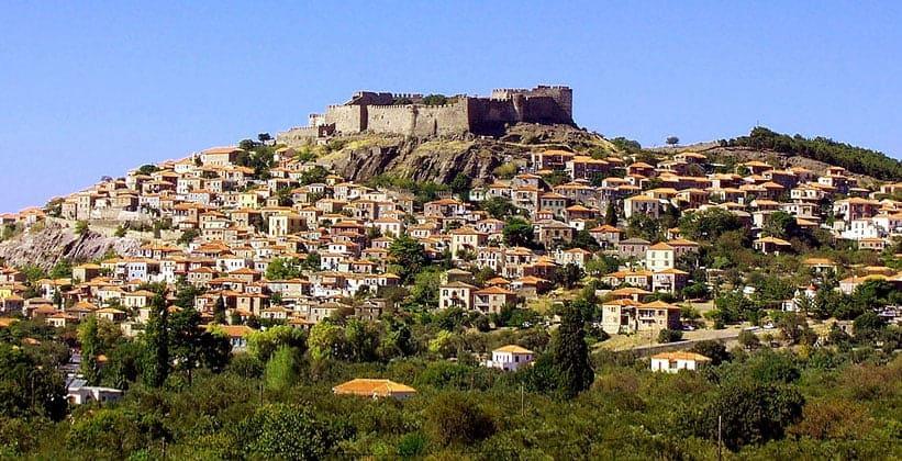 Панорама города Митимна (остров Лесбос – Греция)