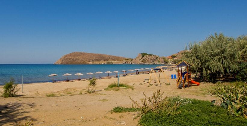 Пляж Romaikos на острове Лемнос