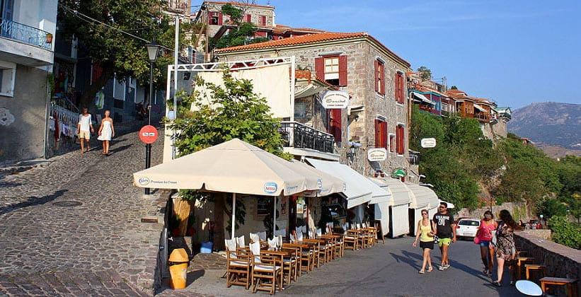 Ресторан Sansibal в городе Митимна (Греция)