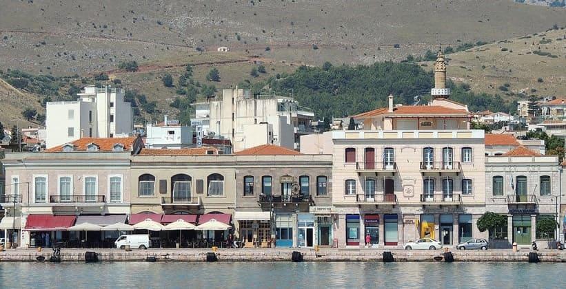 Город Хиос в Греции