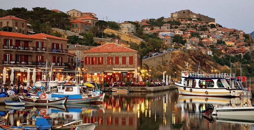 Город Митимна в Греции