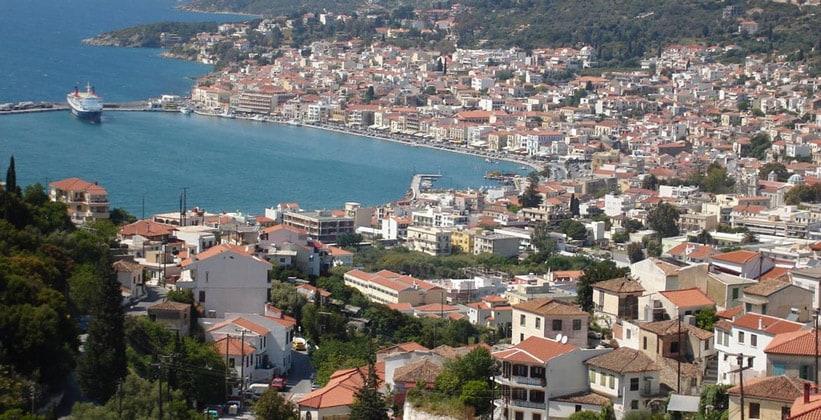 Город Самос в Греции