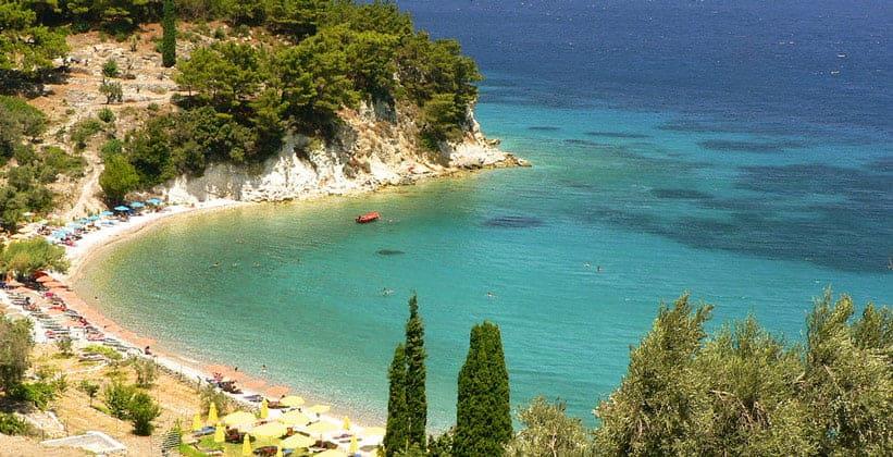 Пляж Tsabou на острове Самос (Греция)