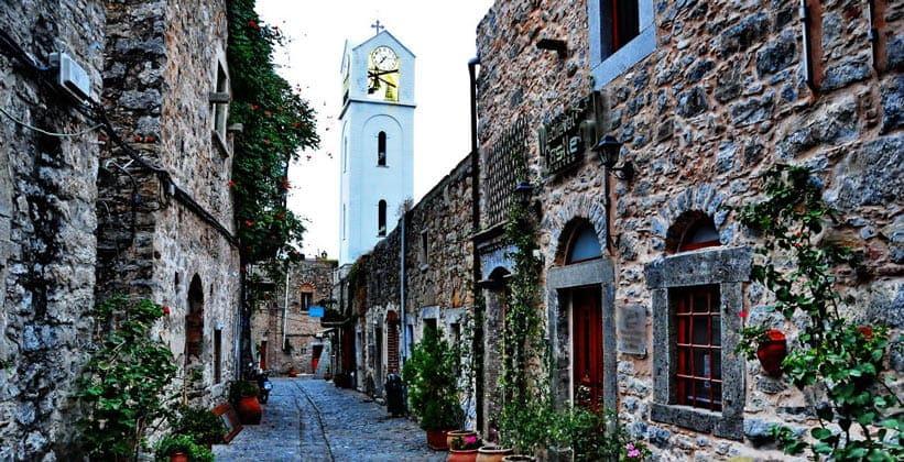 Деревня Места на острове Хиос (Греция)