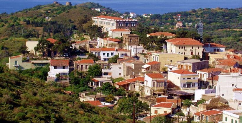 Городок Волиссос на острове Хиос (Греция)