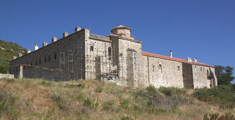 Монастырь Vronda на острове Самос