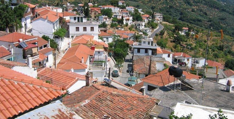 Город Глосса на острове Скопелос