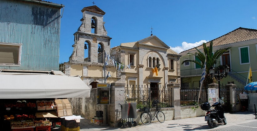 Церковь Theotokos в городе Лефкада