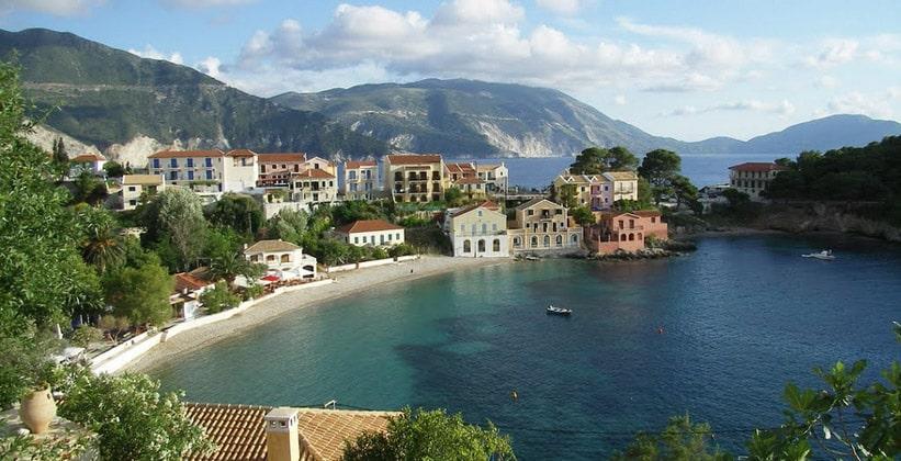 Деревня Асос на острове Кефалония (Греция)