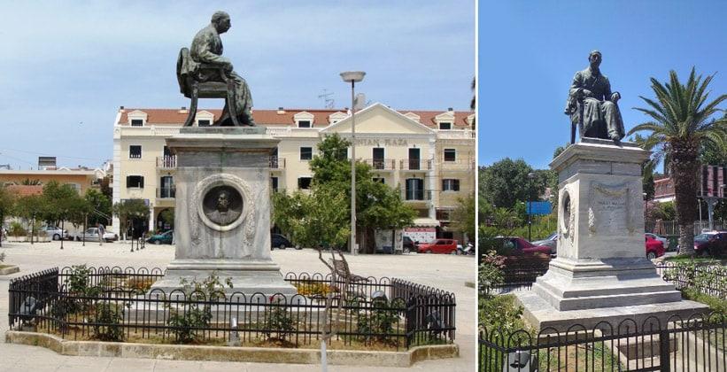Статуя Panagis Vallianou в Аргостолионе (Греция)