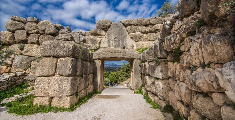 Античные Микены в Греции