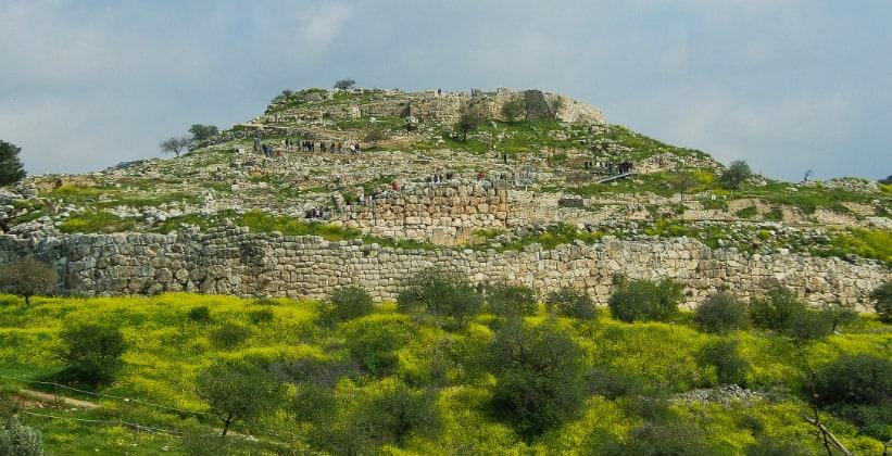 Микенская цитадель в Греции