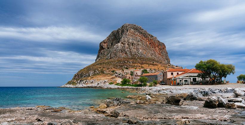 Средневековая Монемвасия в Греции