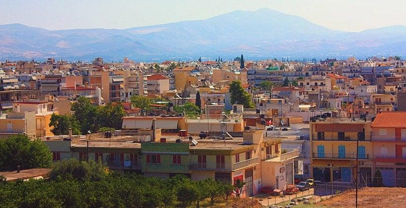 Город Аргос в Греции