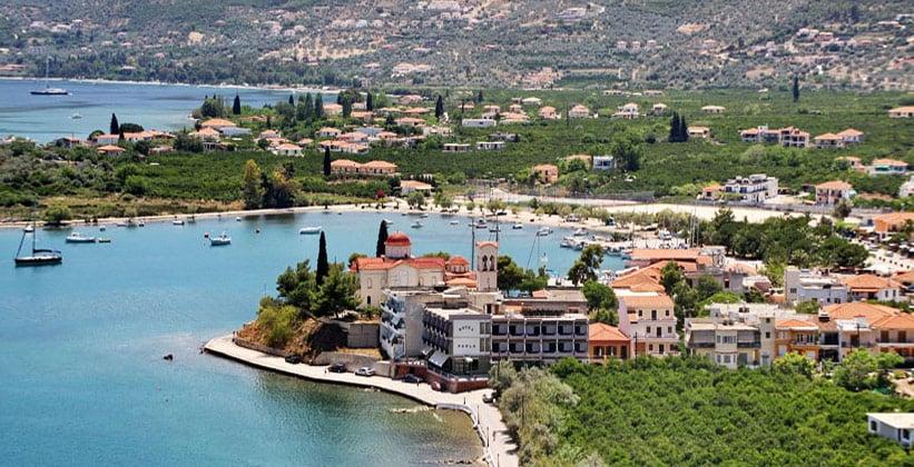 Курорт Палеа-Эпидаврос в Греции