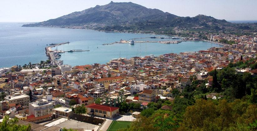 Город Закинтос в Греции