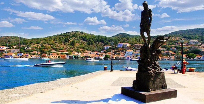 Греческий город Вати (площадь Одиссея)