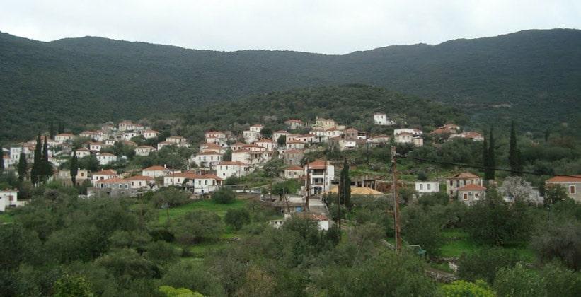 Деревня Иеракас в Греции
