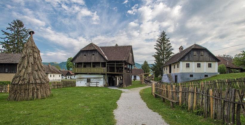 Деревня Кумровец в Хорватии