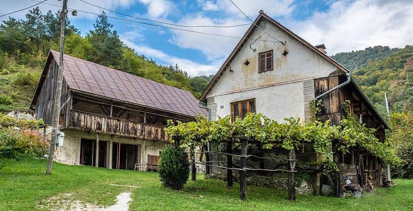 Деревня Стройград в Хорватии