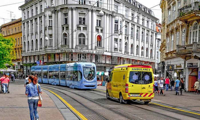 Одна из улиц Загреба