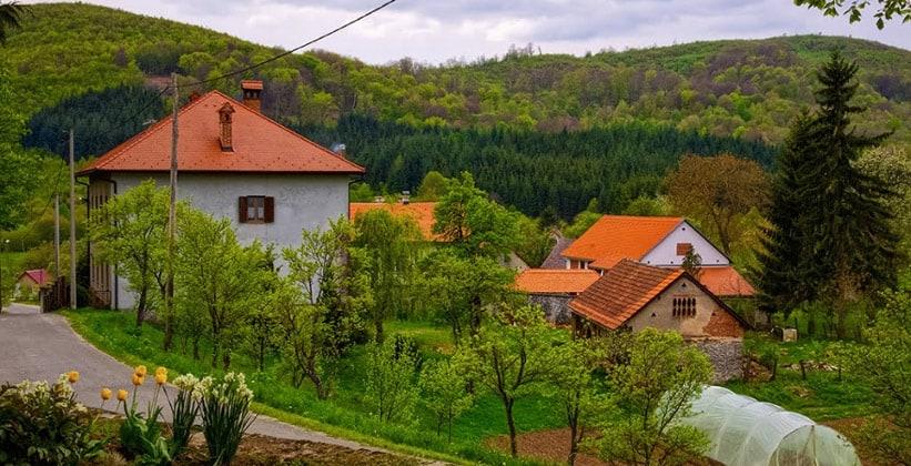 Деревня Сошице в Хорватии