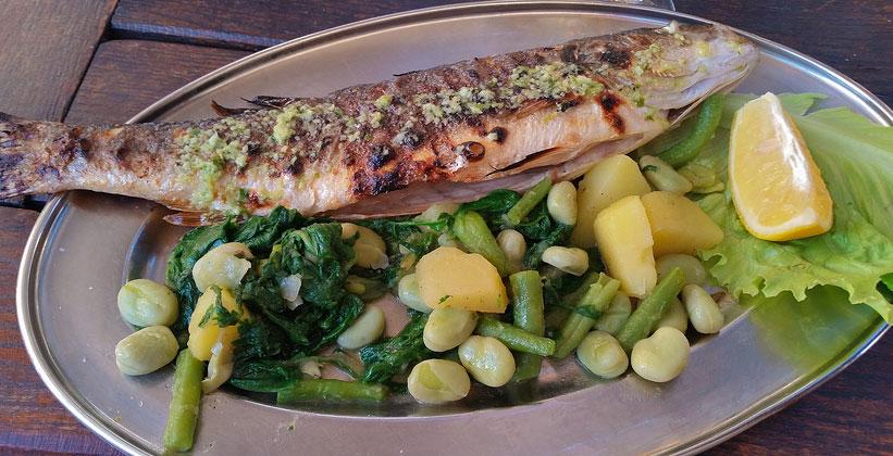 Блюдо из морского окуня (Дубровник)