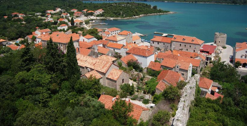 Деревня Мали-Стон в Хорватии