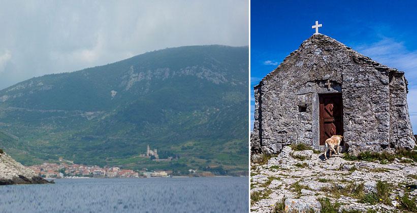 Гора Хум и старая церковь (Хорватия)