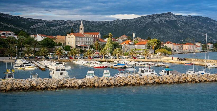 Город Оребич в Хорватии
