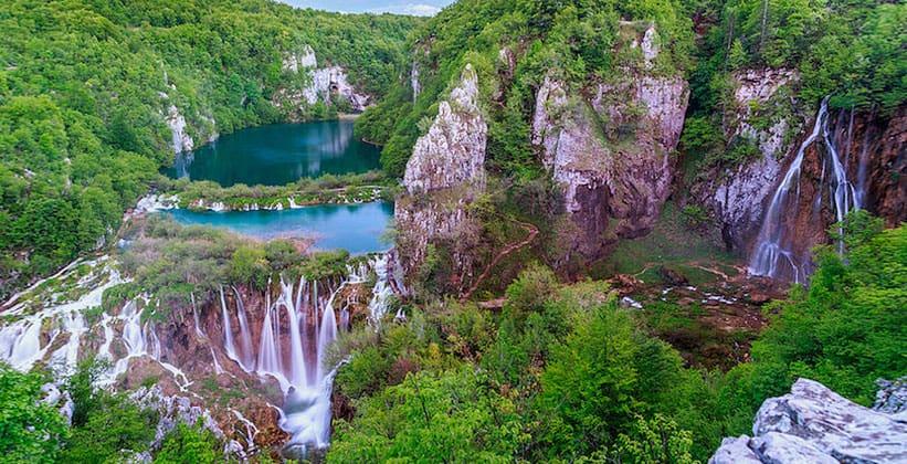 Красоты Плитвицких озёр в Хорватии