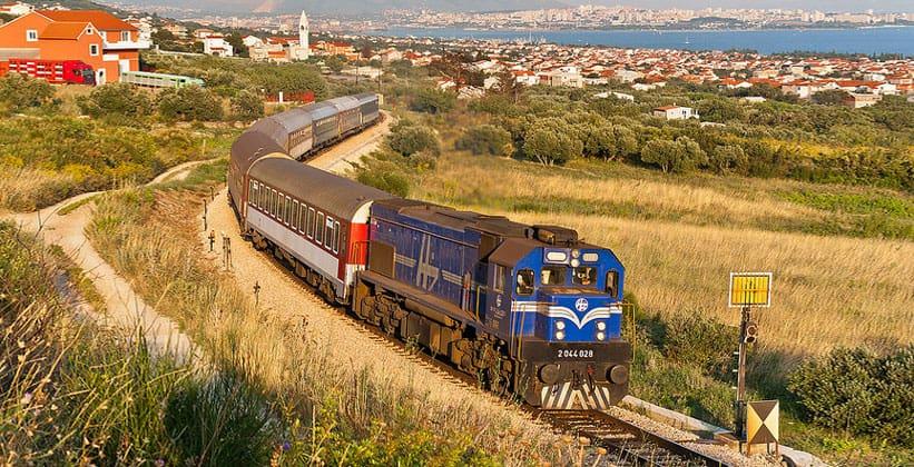 Железнодорожные поезда в Хорватии