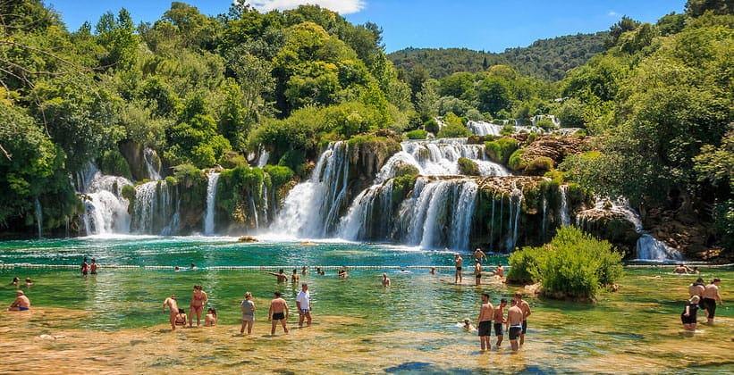 Водопад Скрадинский бук в Национальном парке Крка (Хорватия)
