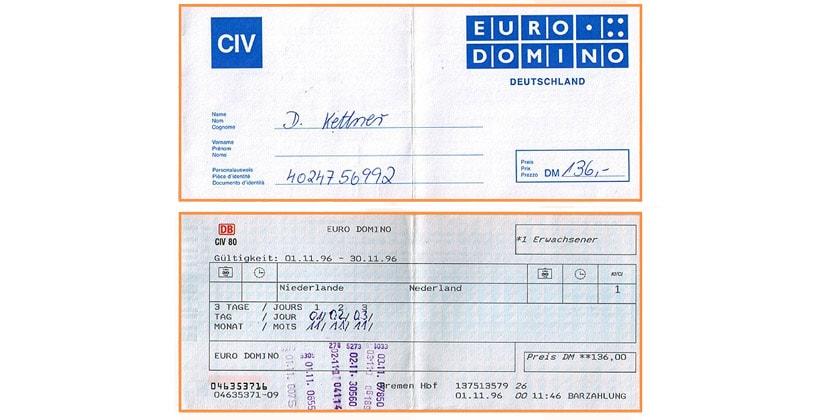 Железнодорожные проездные Euro Domino