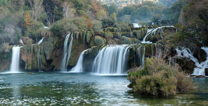 Водопад Национального парка Крка в Далмации (Хорватия)